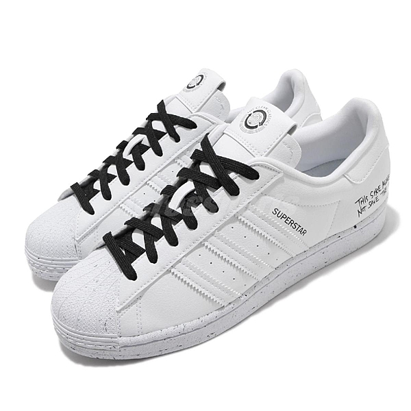 adidas 休閒鞋 Superstar 白 黑 男鞋 塑膠材質製成 復古 運動鞋【ACS】 FW2293
