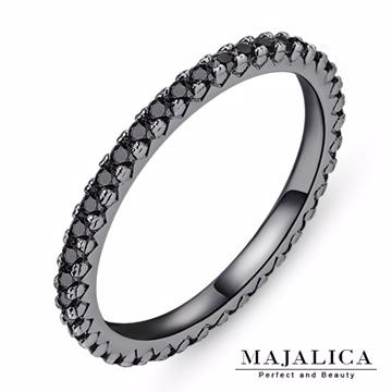 Majalica 線戒純銀尾戒 黑色J款 PR4004-10