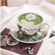 啡人類 北歐風格花式比賽壓紋拉花咖啡杯 歐式大口卡布奇諾拿鐵杯