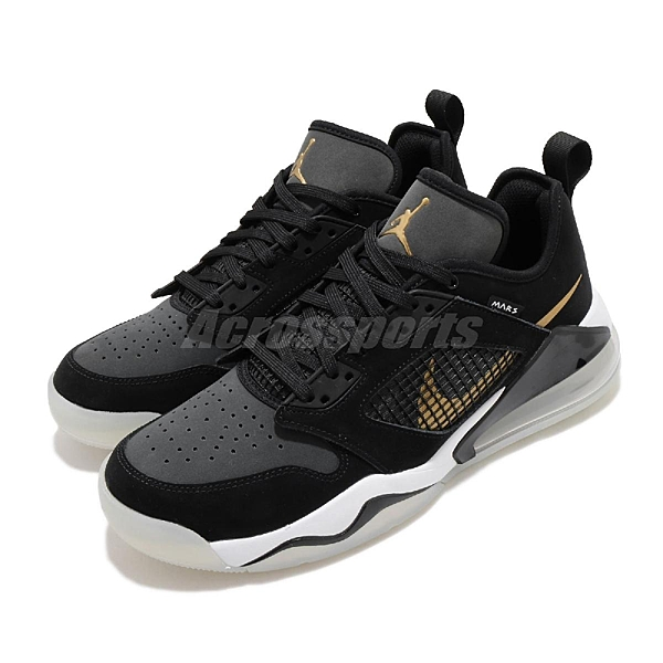 Nike 籃球鞋 Jordan Mars 270 Low 黑 金 男鞋 果凍底 運動鞋 【ACS】 CK1196-017