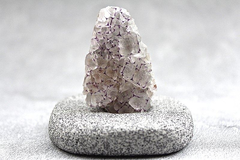 石栽 SHIZAI 紫框螢石原礦-含底座