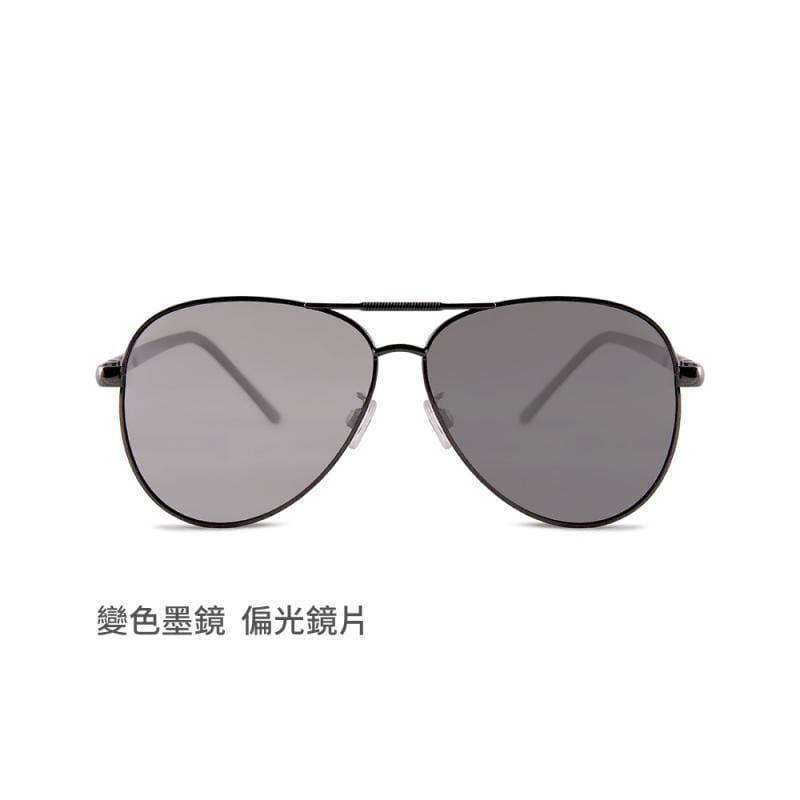 湛灰秘境│科技灰感光變色寶麗來偏光彈簧鏡腳太陽眼鏡│UV400墨鏡 科技灰