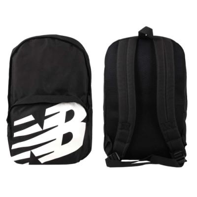 NEWBALANCE 中型後背包-肩背包 雙肩包 旅行包 NB BG01009GBK 黑白