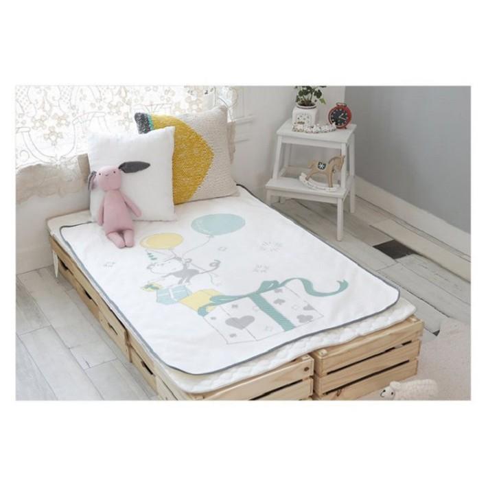 韓國Petit Bird竹纖維嬰幼兒防水保潔床墊—幸運猴 599元