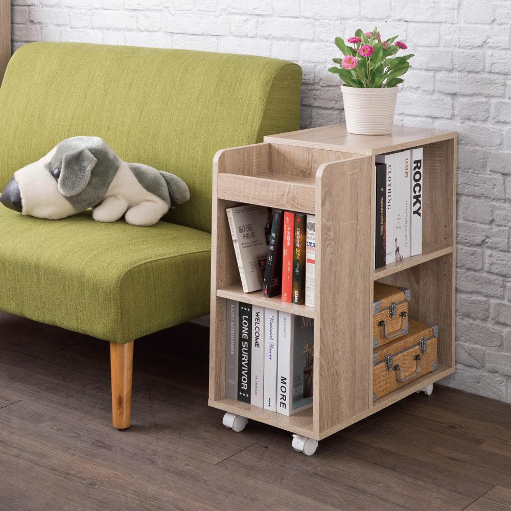 邊櫃/置物櫃/床頭櫃 TZUMii德爾活動收納櫃-淺橡木