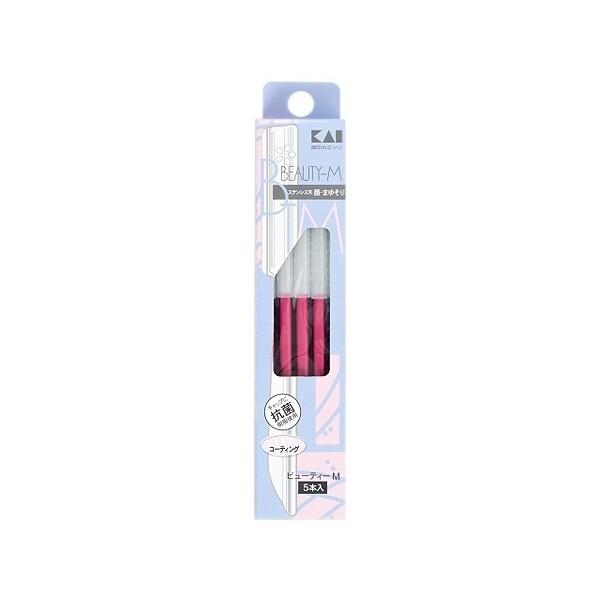 kai 日本貝印~修刀眉(btm-5f1)5支入-粉紅修眉刀/修眉/美容工具