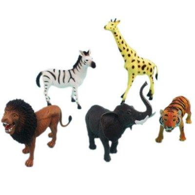 大5隻入 動物公仔 YS8-006 野生動物模型/一袋入{促350} 動物模型 仿真動物~生YS8-006(K2396)