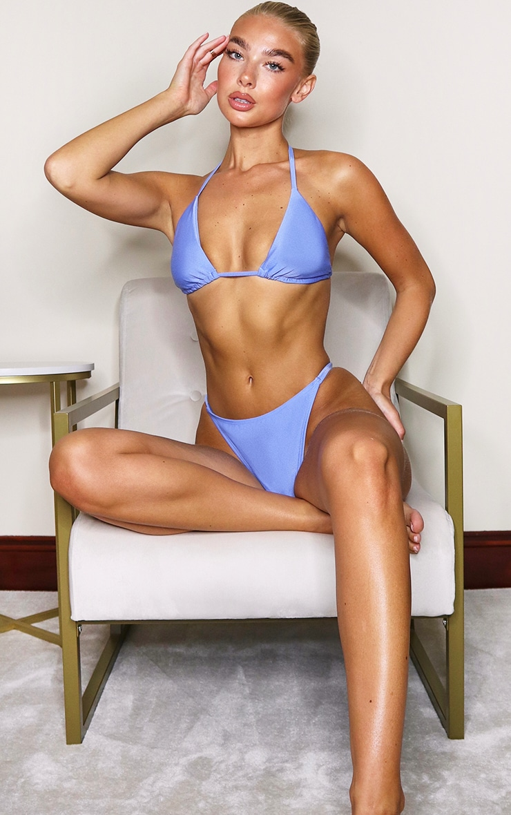 Cornflower Blue Mix & Match Itsy Bitsy Bikini Top
