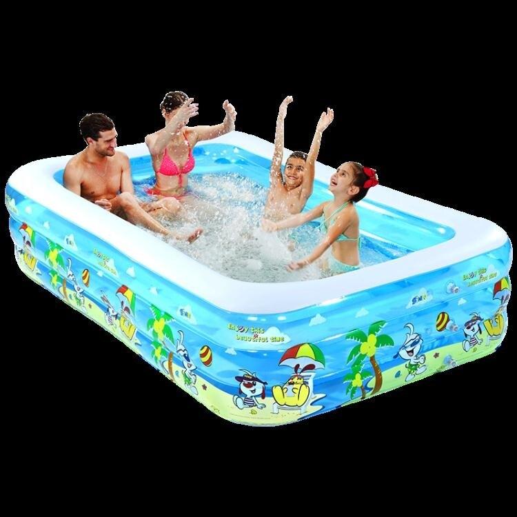 夯貨折扣! 充氣泳池 兒童充氣游泳池家庭超大型海洋球池加厚家用大號成人戲水池