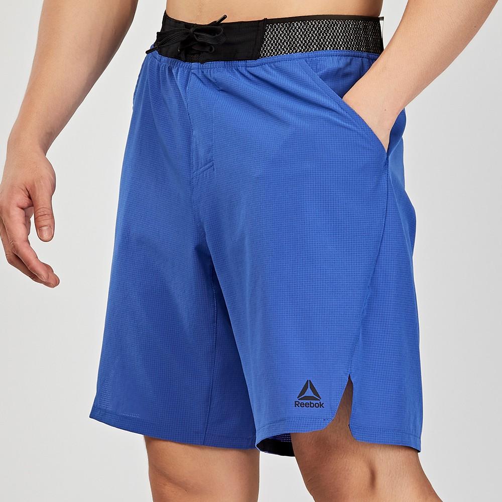 Reebok Training 男款 藍色 透氣 排汗 運動 短褲 DU4335