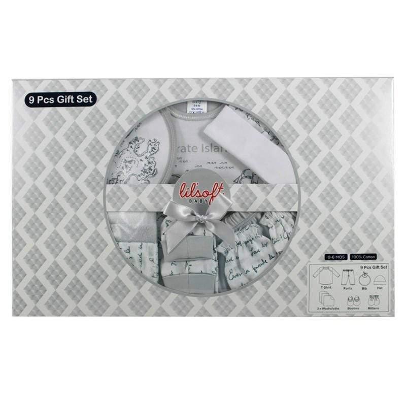 灰色冒險地圖9件式彌月禮盒