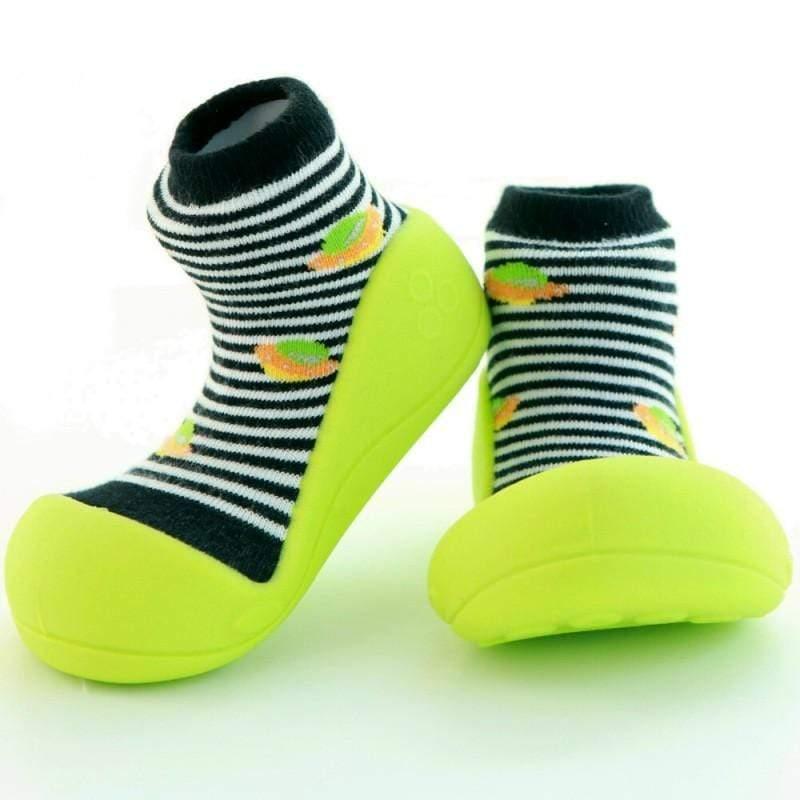 快樂學步鞋-綠底飛碟- XL