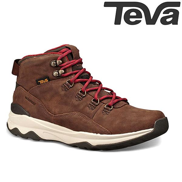 TEVA 頂級全皮超輕量黃金大底中筒防水健走登山鞋ARROWOOD UTILITY MID WP - 咖啡