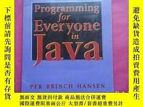 二手書博民逛書店Programming罕見for EVeryone IN Jav