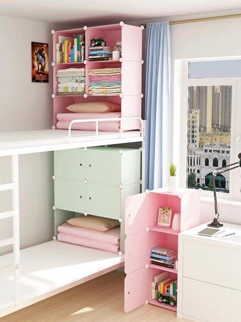 床上衣櫃宿舍床上收納神器上鋪小衣櫃單人小號簡易衣櫃布寢室下鋪 秋冬新品特惠