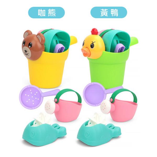 兒童戲水花灑 小黃鴨洗澡玩具4件組