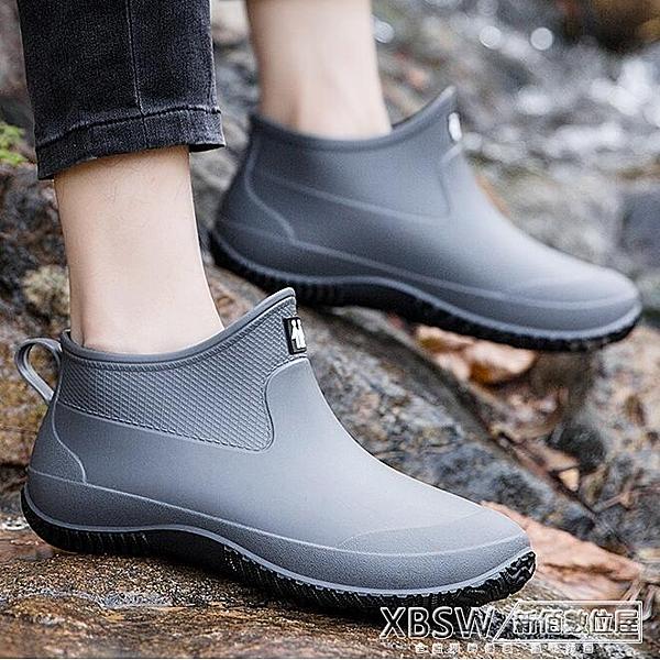 男低幫夏季套鞋水鞋男雨靴女短筒膠鞋防水輕便戶外洗車鞋CY『新佰數位屋』