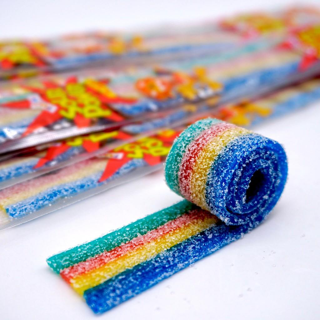 【嘴甜甜】酸扁帶-綜合 sourpower 10條 包裝糖果系列 酸口味