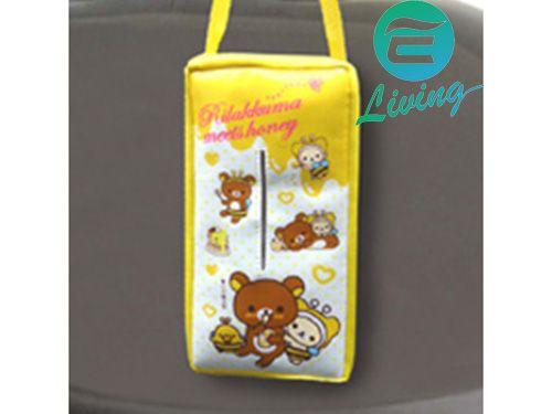 日本 MEIHO 拉拉熊面紙盒套-蜜蜂鵝黃 RK-31