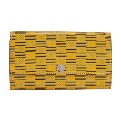 Wallet flap cuir moreau