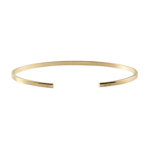 Bracelet ribbon le 7g yellow gold 750 slick brushed