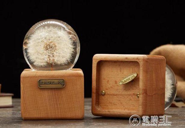 音樂盒蒲公英標本永生花水晶球音樂盒八音盒創意生日禮物送閨蜜情侶新年全館特惠限時促銷
