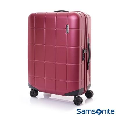 Samsonite新秀麗 25吋Tileum霧面防刮飛機輪硬殼TSA行李箱(紅)