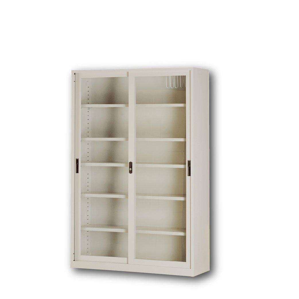 【哇哇蛙】卷宗櫃/4尺6尺連座玻璃拉門 CP-4602G 辦公 學校 收納 文件報表 置物櫃 分類資料 隔間櫃 鐵櫃