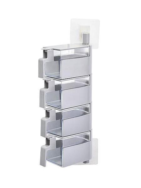 調料盒四格一體廚房壁掛家用調味料瓶收納盒鹽罐組合套裝味精罐子
