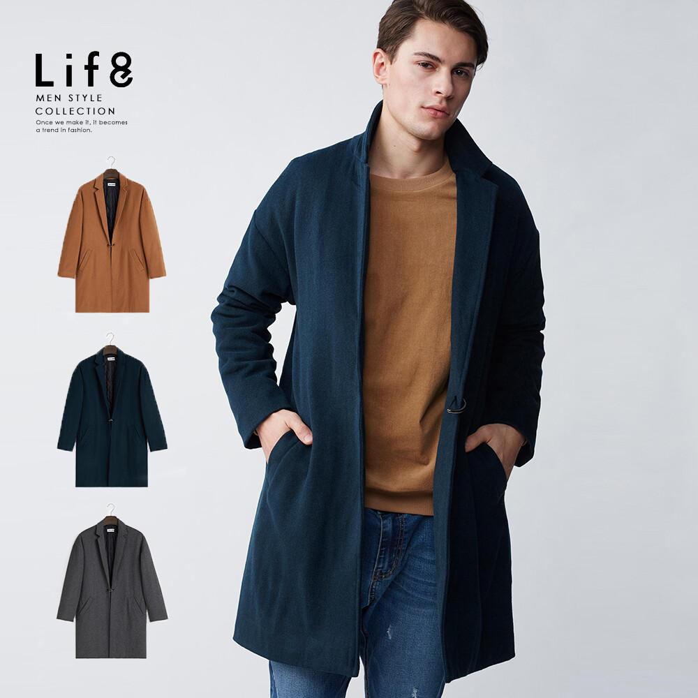 life8-formal 高質羊毛 韓版保暖大衣-11186