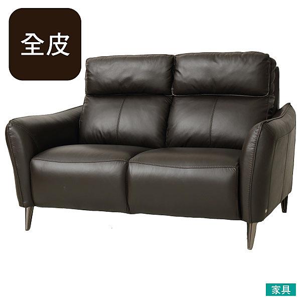 ◎HTL高級全皮2人用沙發 H624 DBR NITORI宜得利家居