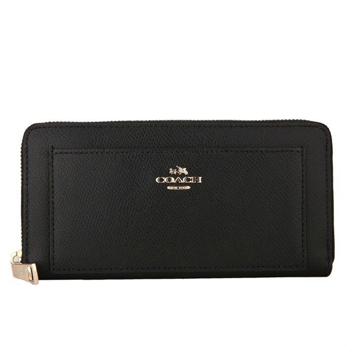 COACH F52648 美國正品質感防刮真皮拉鍊長夾女長款錢包拉鏈手拿包女士皮夾【LiDu代購】
