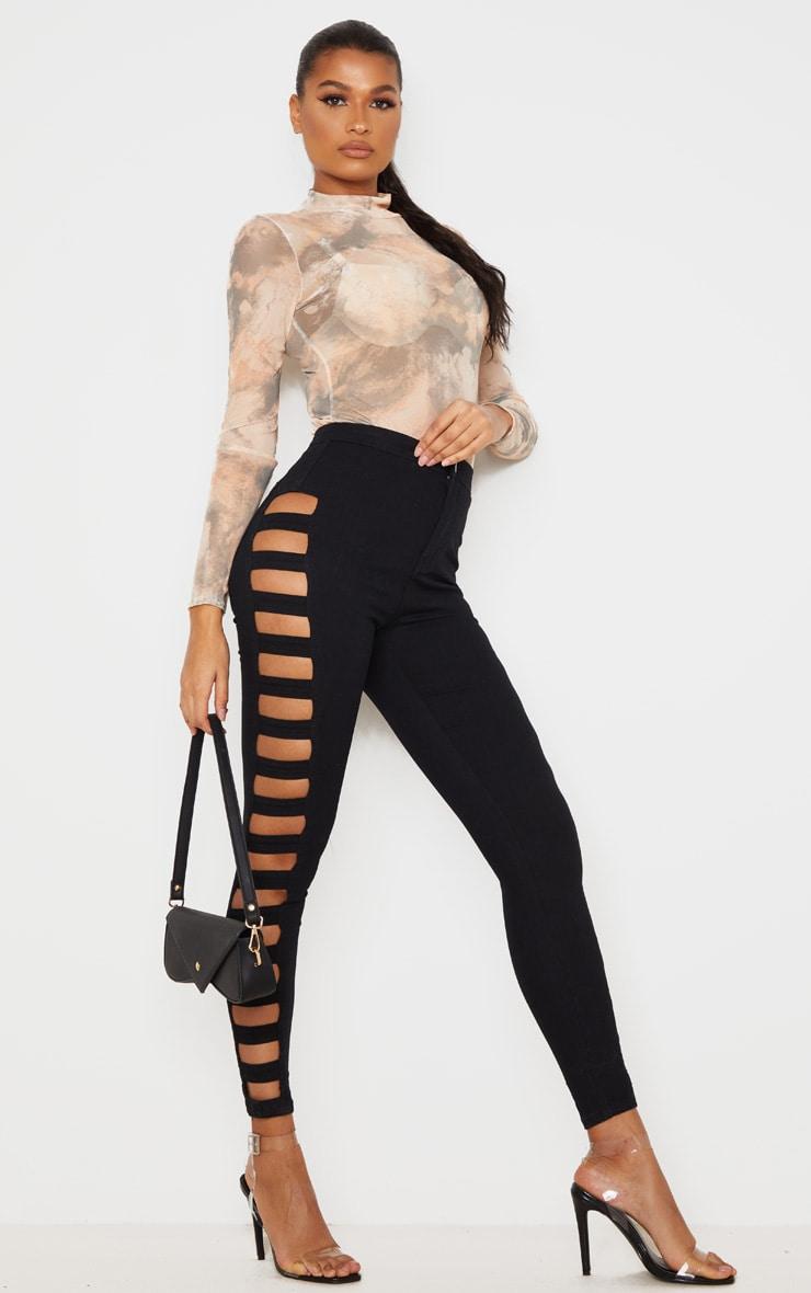Black Side Cut Out Jeans