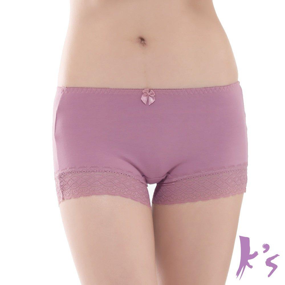 K's 凱恩絲 專利蠶絲褲底 零束縛超柔涼感平口褲 - 芋頭紫