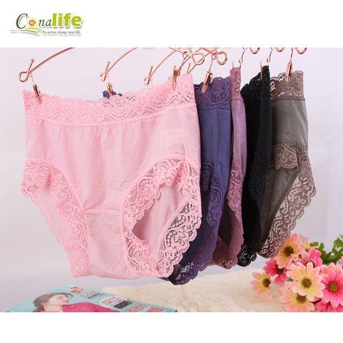 [Conalife] 台灣製造 透氣涼感竹炭美尻內褲 顏色隨機 (3入)