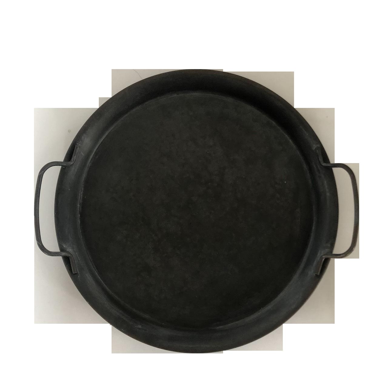 鐵藝做舊復古雙耳圓托盤 ( Φ20 x 2 cm ) -外星人餐具