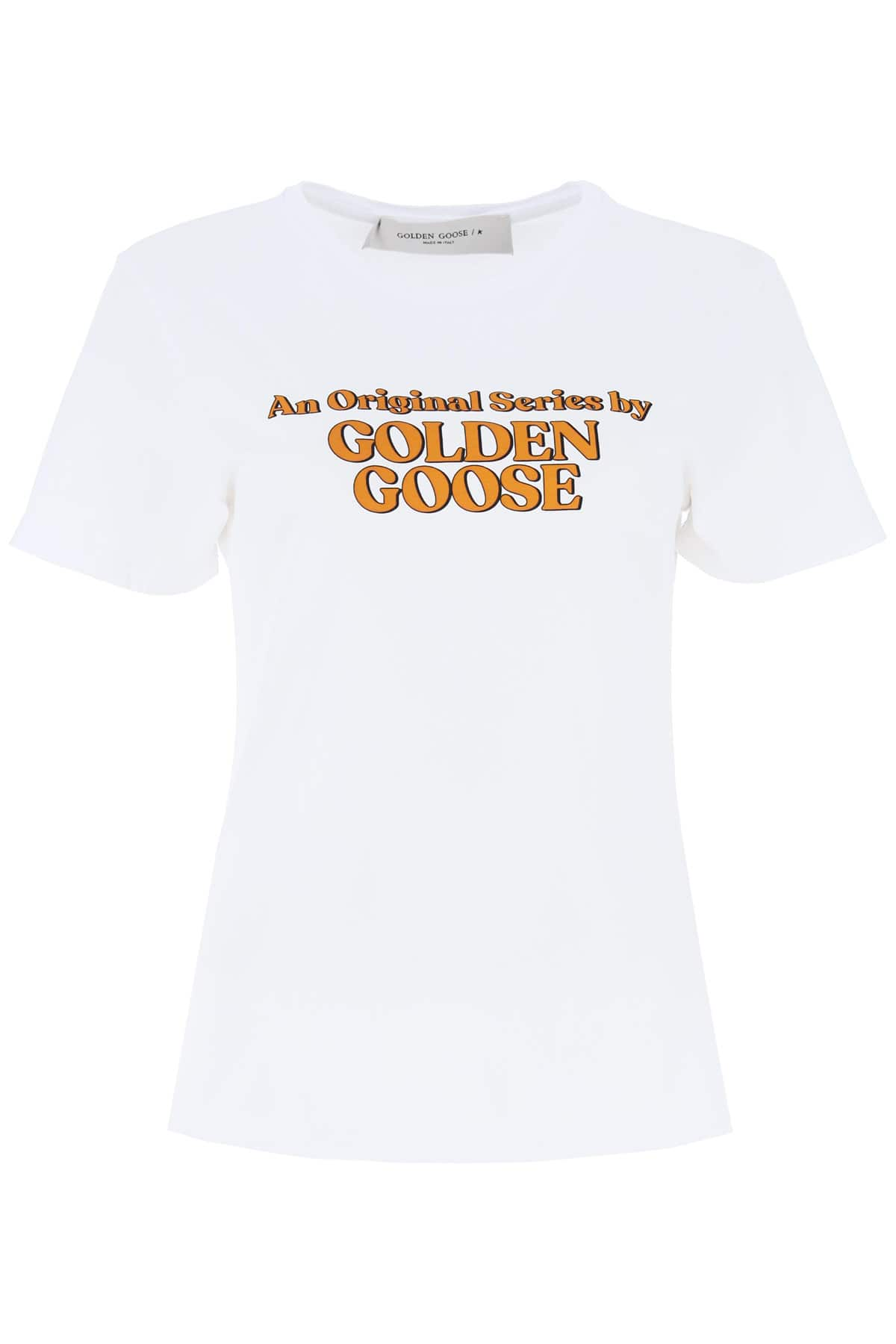GOLDEN GOOSE GOLDEN SERIES ANIA T-SHIRT M White Cotton