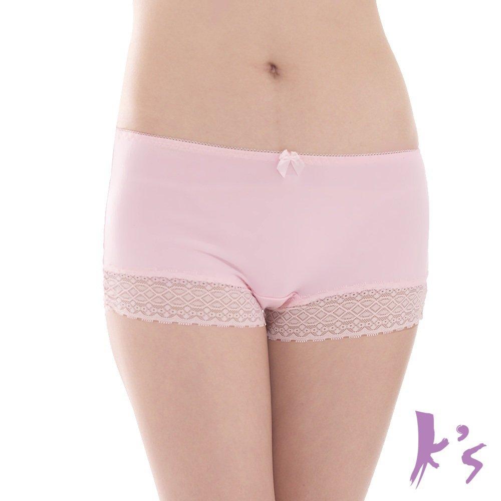 K's 凱恩絲 專利蠶絲褲底 零束縛超柔涼感平口褲 - 甜美粉