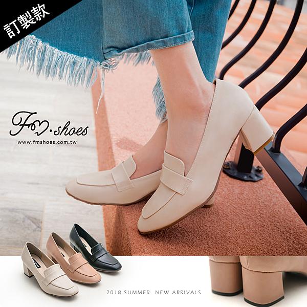 紳士.方頭高跟紳士鞋(黑、粉)-FM時尚美鞋-訂製款.Repeat