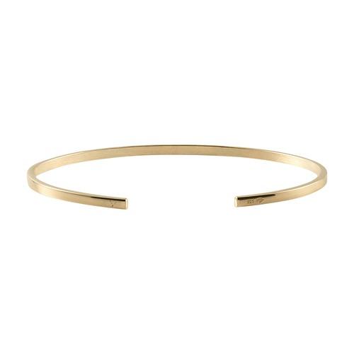 Bracelet ribbon le 7g yellow gold 750 slick brushed