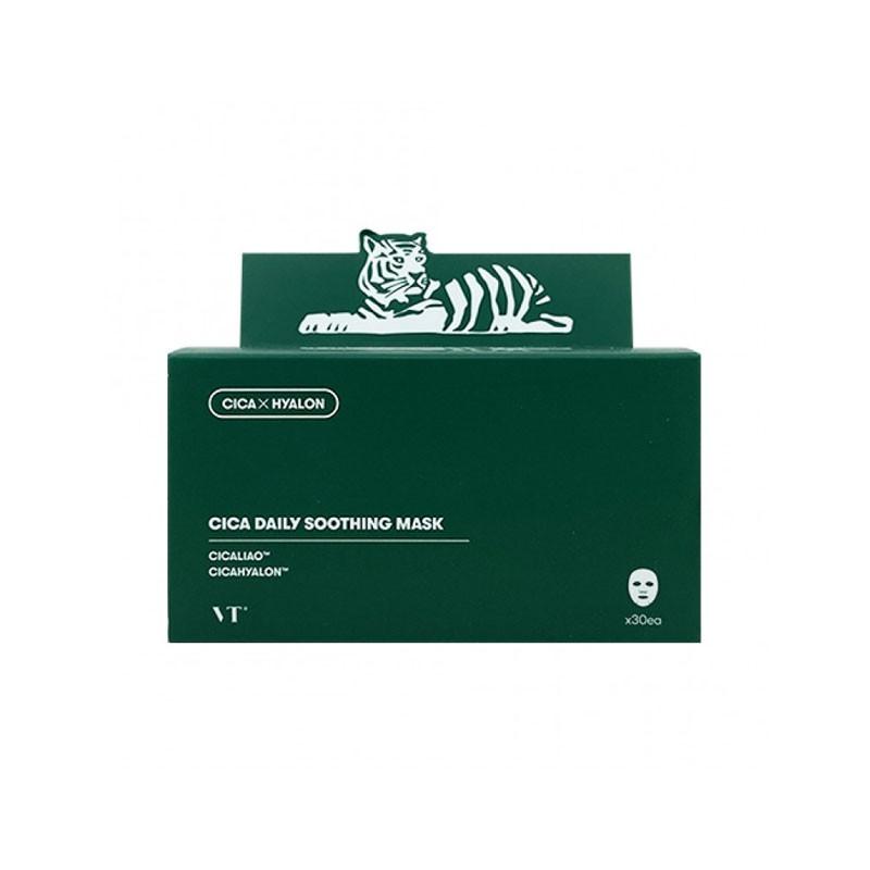 韓國 VT 老虎綠寶盒面膜 (30片/盒) 早安面膜 抽取式舒緩面膜 積雪草
