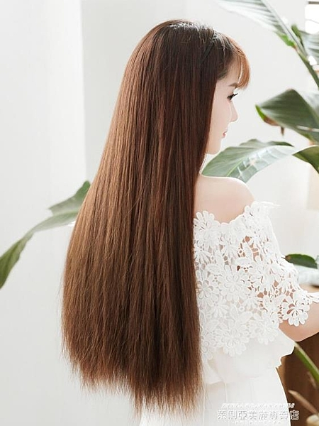 假髮片艾妮雅假髮片女中長髮漢服直髮一片式隱形無痕接髮仿真自然三片式 【618 狂歡】