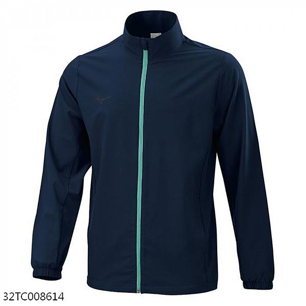 Mizuno Slim FIT [32TC008614] 男女 外套 吸汗快乾 防潑 防紫外線 除臭 合身版型 丈青