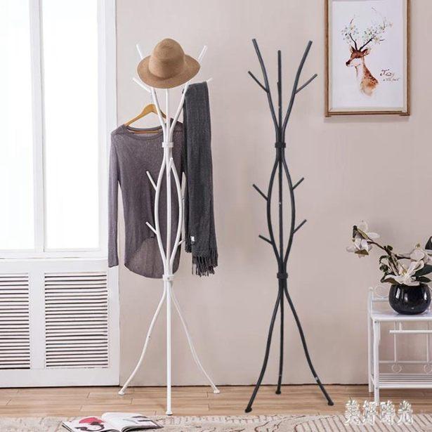 衣帽架家用落地掛衣架非實木客廳包包簡約鐵藝臥室衣服架子 FF3672全館特惠限時促銷