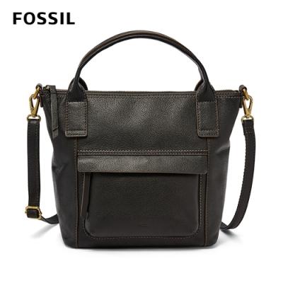 FOSSIL 母親節優惠 AIDA 艾達休閒風黑色手提側揹兩用包 SHB2098001