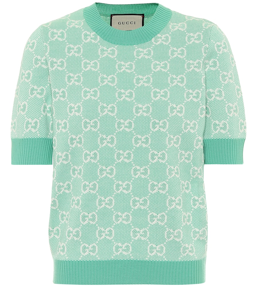 GG wool and cotton piqué sweater