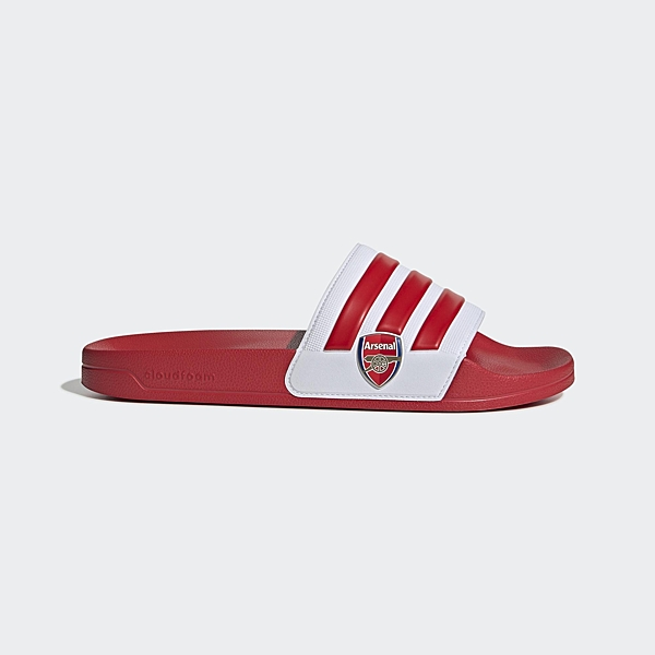 Adidas ADILETTE SHOWER 男女款紅白色休閒拖鞋-NO.EG1212