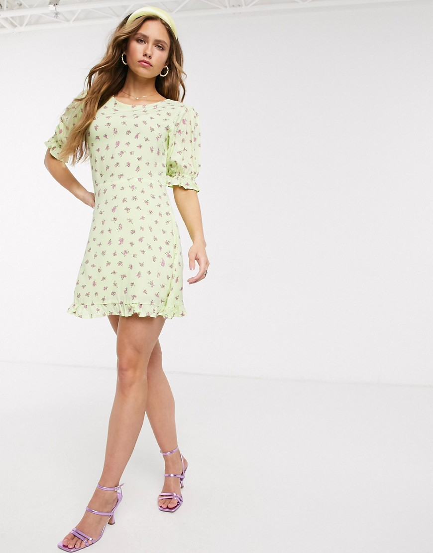 Faithfull The Brand florence floral mini dress-Green
