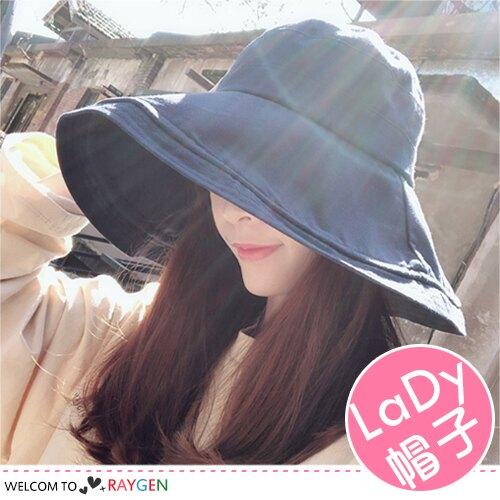 女孩夏季百搭大簷遮陽帽 防曬 漁夫帽