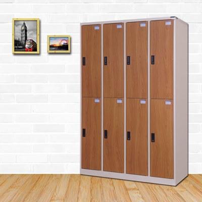 時尚屋 華爾特多用途塑鋼製8格置物櫃 寬119x深51x高180cm